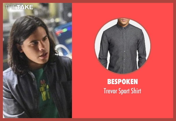 Bespoken gray shirt from The Flash seen with Cisco Ramon / Reverb (Carlos Valdes)