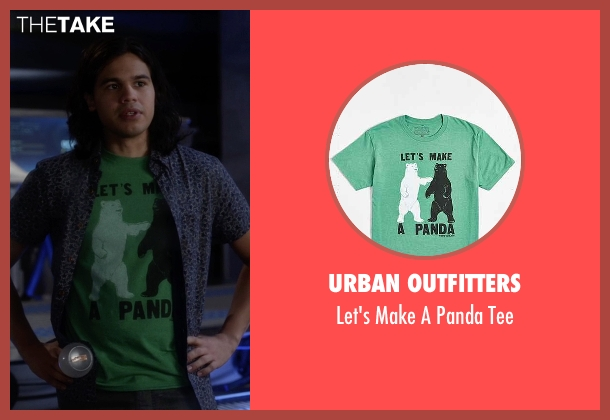 Urban Outfitters green panda tee from The Flash seen with Cisco Ramon / Reverb (Carlos Valdes)