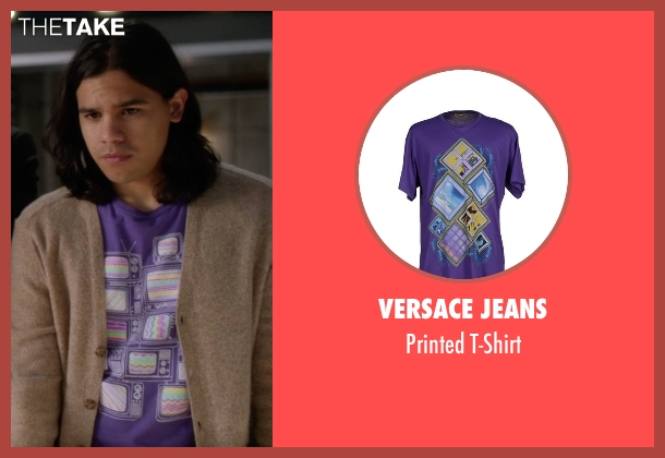 Versace Jeans purple t-shirt from The Flash seen with Cisco Ramon / Reverb (Carlos Valdes)