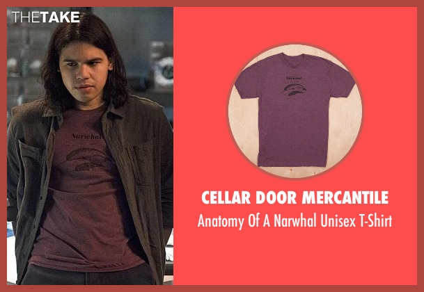 Cellar Door Mercantile red t-shirt from The Flash seen with Cisco Ramon / Reverb (Carlos Valdes)