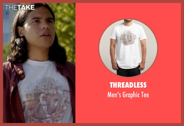 Threadless white tee from The Flash seen with Cisco Ramon / Reverb (Carlos Valdes)