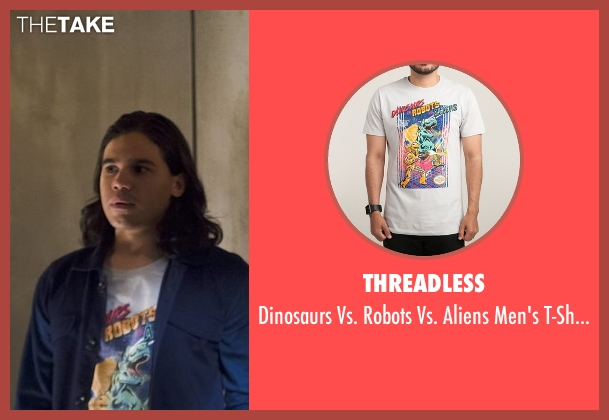 Threadless white t-shirt from The Flash seen with Cisco Ramon / Reverb (Carlos Valdes)