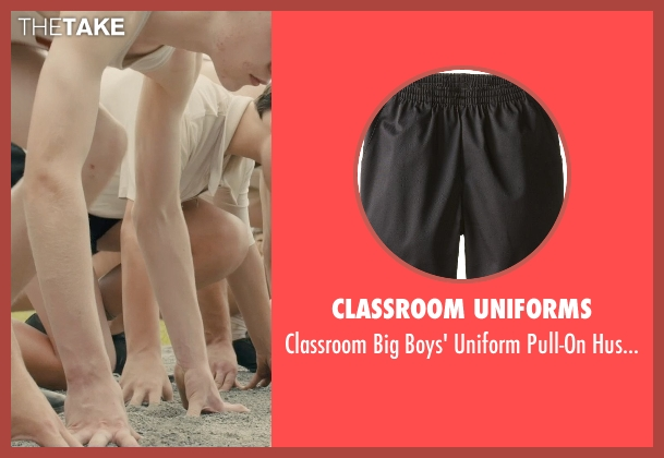 Classroom Uniforms black short from Unbroken seen with C.J. Valleroy (Young Louis)