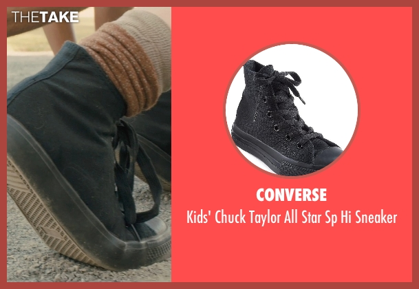 Converse black sneaker from Unbroken seen with C.J. Valleroy (Young Louis)