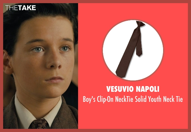 Vesuvio Napoli tie from Unbroken seen with C.J. Valleroy (Young Louis)