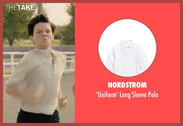 Nordstrom white polo from Unbroken seen with C.J. Valleroy (Young Louis)