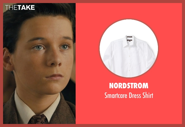 Nordstrom white shirt from Unbroken seen with C.J. Valleroy (Young Louis)