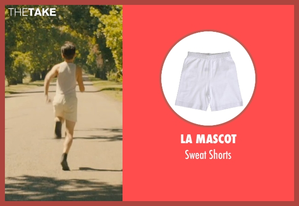 La Mascot white shorts from Unbroken seen with C.J. Valleroy (Young Louis)