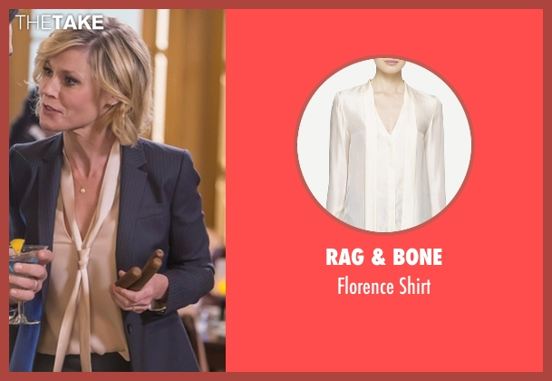 Rag & Bone beige shirt from Modern Family seen with Claire Dunphy (Julie Bowen)