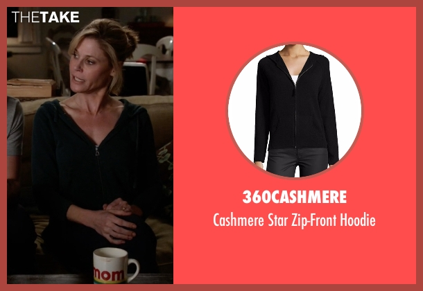 360Cashmere black hoodie from Modern Family seen with Claire Dunphy (Julie Bowen)