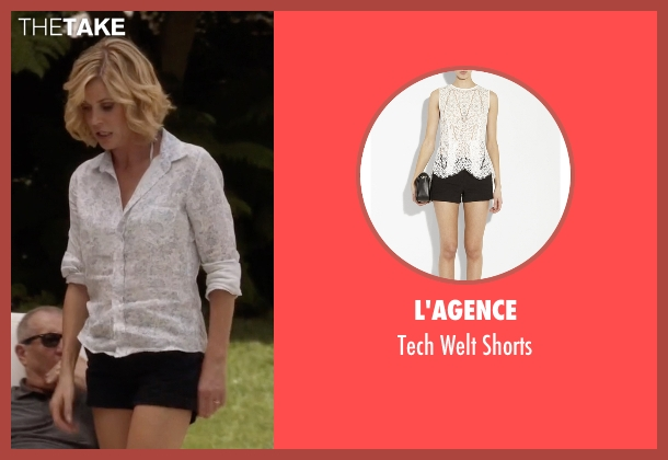 L'Agence black shorts from Modern Family seen with Claire Dunphy (Julie Bowen)