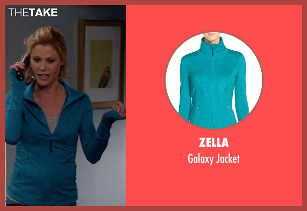 Zella  blue jacket from Modern Family seen with Claire Dunphy (Julie Bowen)