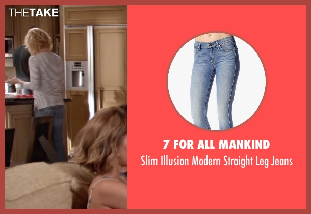 7 for all Mankind blue jeans from Modern Family seen with Claire Dunphy (Julie Bowen)