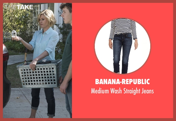 Banana-Republic blue jeans from Modern Family seen with Claire Dunphy (Julie Bowen)