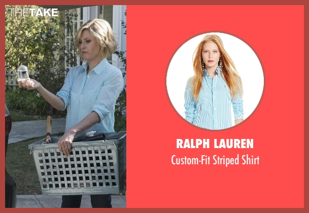 Ralph Lauren blue shirt from Modern Family seen with Claire Dunphy (Julie Bowen)