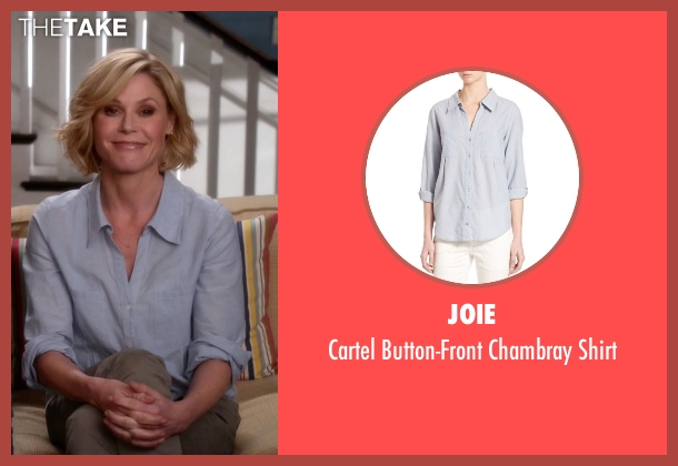 Joie blue shirt from Modern Family seen with Claire Dunphy (Julie Bowen)