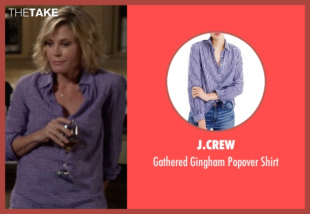 J.Crew blue shirt from Modern Family seen with Claire Dunphy (Julie Bowen)