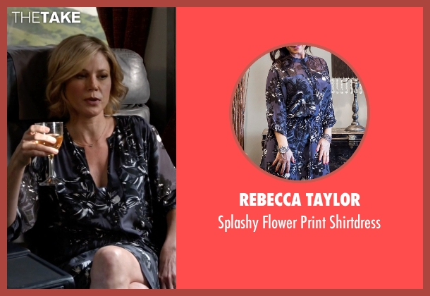 Rebecca Taylor blue shirtdress from Modern Family seen with Claire Dunphy (Julie Bowen)
