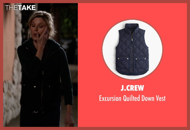 J.Crew blue vest from Modern Family seen with Claire Dunphy (Julie Bowen)