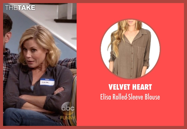 Velvet Heart brown blouse from Modern Family seen with Claire Dunphy (Julie Bowen)