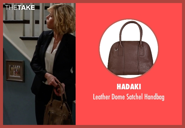 Hadaki brown handbag from Modern Family seen with Claire Dunphy (Julie Bowen)