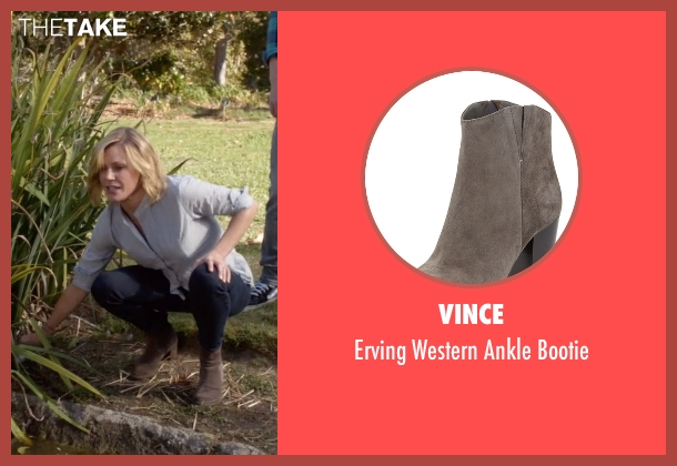 Vince gray bootie from Modern Family seen with Claire Dunphy (Julie Bowen)