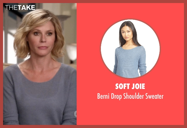 Soft Joie gray sweater from Modern Family seen with Claire Dunphy (Julie Bowen)