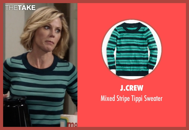 J.Crew green sweater from Modern Family seen with Claire Dunphy (Julie Bowen)