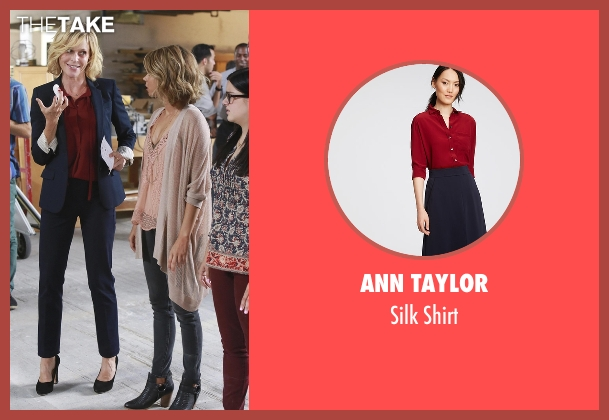 Ann Taylor red shirt from Modern Family seen with Claire Dunphy (Julie Bowen)