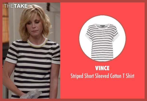 Vince white shirt from Modern Family seen with Claire Dunphy (Julie Bowen)