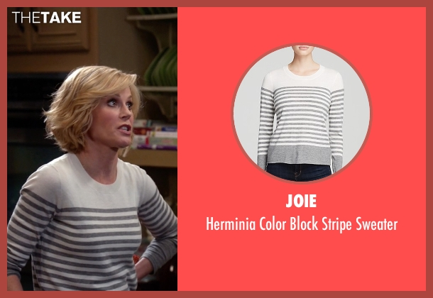 Joie white sweater from Modern Family seen with Claire Dunphy (Julie Bowen)
