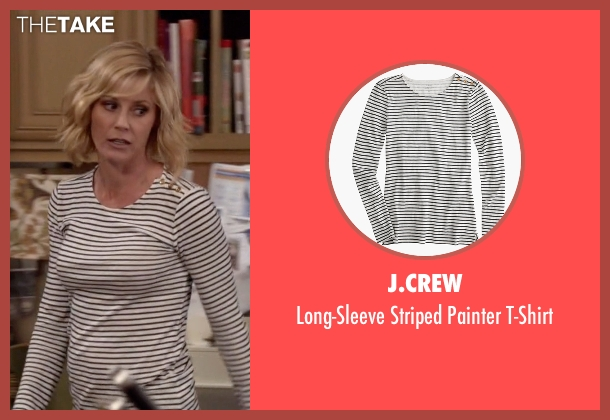 J.Crew white t-shirt from Modern Family seen with Claire Dunphy (Julie Bowen)