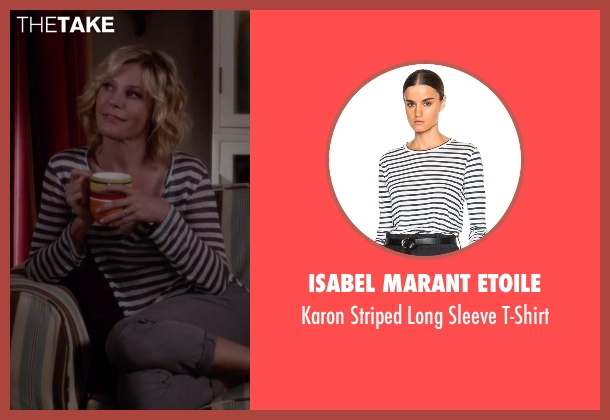 Isabel Marant Etoile white t-shirt from Modern Family seen with Claire Dunphy (Julie Bowen)