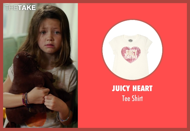 Juicy Heart beige shirt from No Escape seen with Claire Geare (Beeze Dwyer)