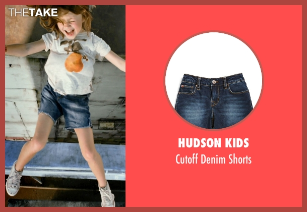 Hudson Kids blue shorts from No Escape seen with Claire Geare (Beeze Dwyer)