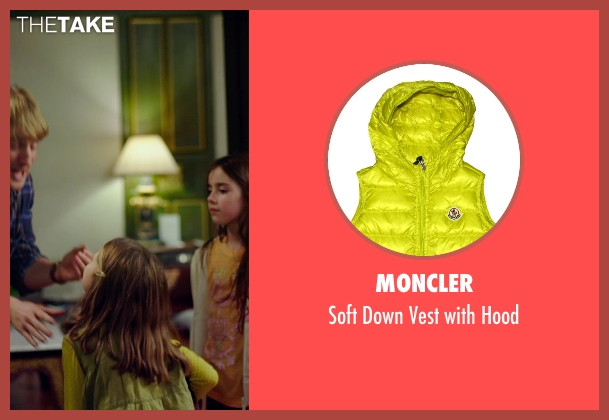 Moncler green hood from No Escape seen with Claire Geare (Beeze Dwyer)