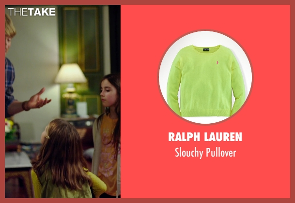 Ralph Lauren yellow pullover from No Escape seen with Claire Geare (Beeze Dwyer)