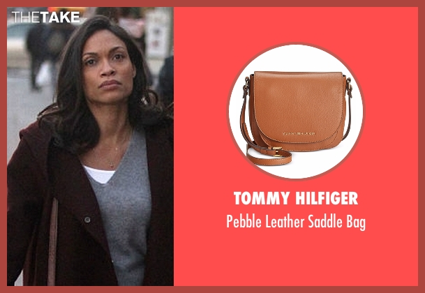 Tommy Hilfiger black bag from Marvel's Luke Cage seen with Claire Temple (Rosario Dawson)