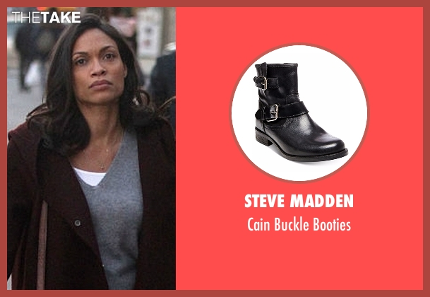 Steve Madden black booties from Marvel's Luke Cage seen with Claire Temple (Rosario Dawson)