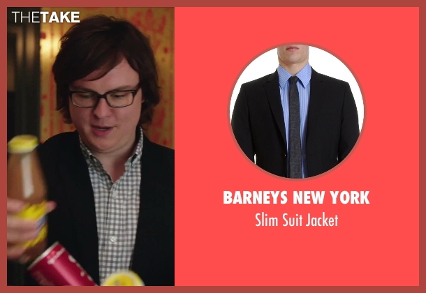 Barneys New York black jacket from Hot Tub Time Machine 2 seen with Clark Duke (Jacob)