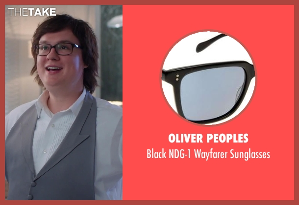 Oliver Peoples black sunglasses from Hot Tub Time Machine 2 seen with Clark Duke (Jacob)