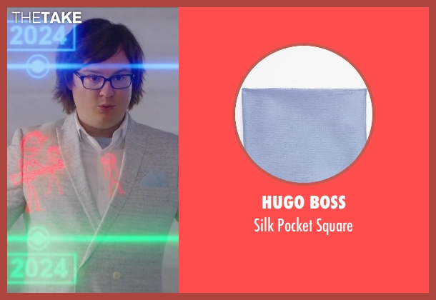 Hugo Boss blue square from Hot Tub Time Machine 2 seen with Clark Duke (Jacob)