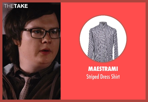 Maestrami brown shirt from Hot Tub Time Machine 2 seen with Clark Duke (Jacob)