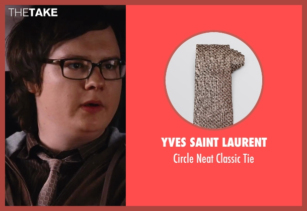 Yves Saint Laurent brown tie from Hot Tub Time Machine 2 seen with Clark Duke (Jacob)