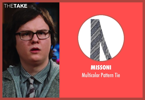 Missoni brown tie from Hot Tub Time Machine 2 seen with Clark Duke (Jacob)