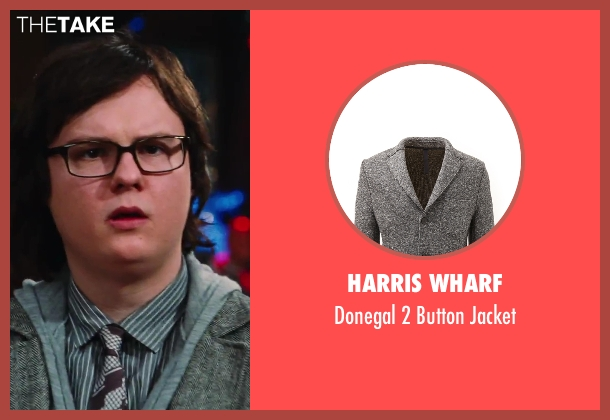 Harris Wharf gray jacket from Hot Tub Time Machine 2 seen with Clark Duke (Jacob)