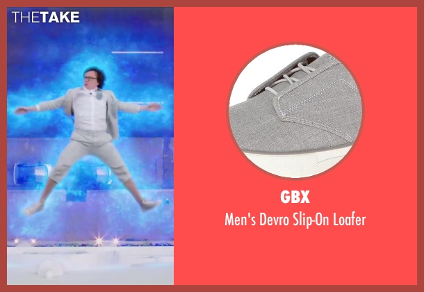 GBX gray loafer from Hot Tub Time Machine 2 seen with Clark Duke (Jacob)