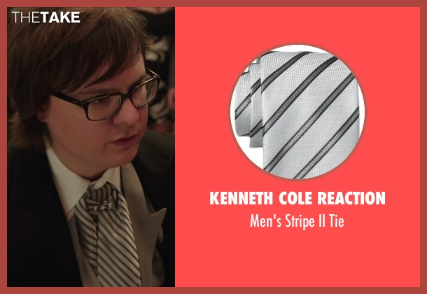 Kenneth Cole Reaction silver tie from Hot Tub Time Machine 2 seen with Clark Duke (Jacob)