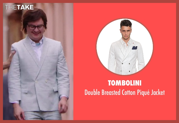 Tombolini white jacket from Hot Tub Time Machine 2 seen with Clark Duke (Jacob)