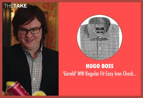Hugo Boss white shirt from Hot Tub Time Machine 2 seen with Clark Duke (Jacob)